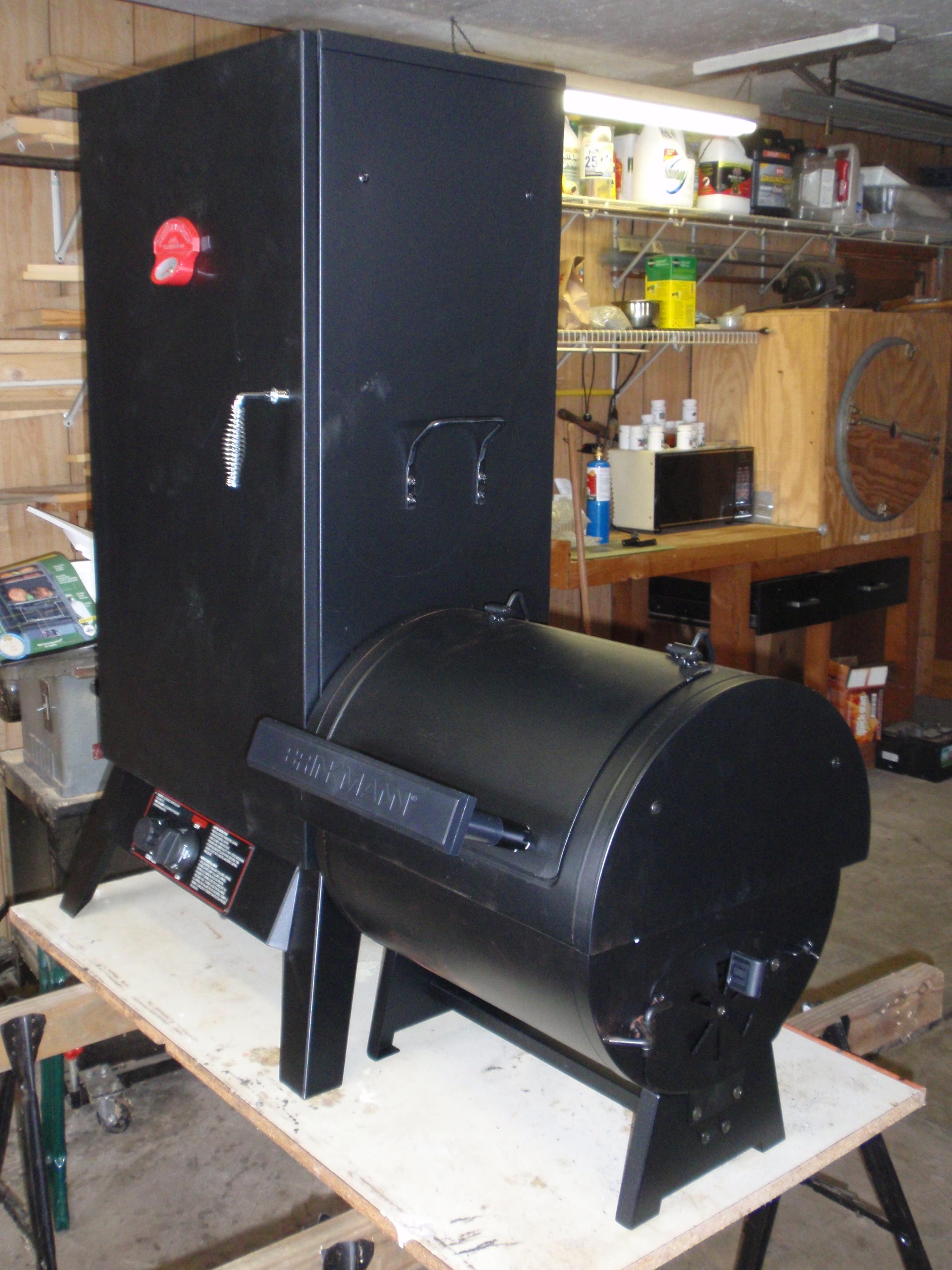 Adding An Offset Fire Box To A Vertical Smoker John S